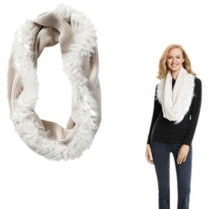 Cani Twist Fur Knitted infinity Scarf - one size